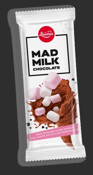 Mad Milk Piena šokolāde ar mini zefīriem, 90g
