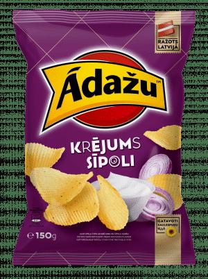 Ādažu Čipsi Krējums & Sīpoli, 150g