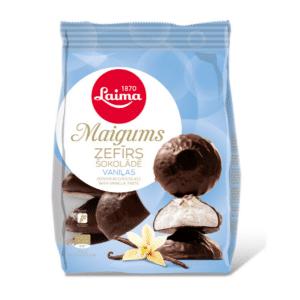 Maigums vaniļas zefīrs šokolādē, 200g