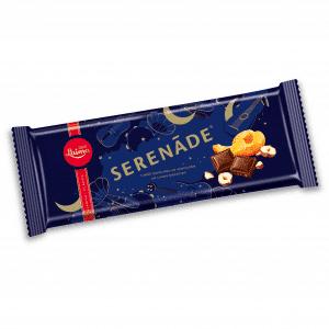 Serenāde tumšā šokolāde ar aprikozēm un lazdu riekstiem, 200g