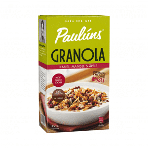PAULUNS granola ar kanēli un āboliem, 450g