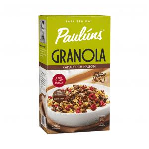 Pauluns granola ar kakao un avenēm, 450g