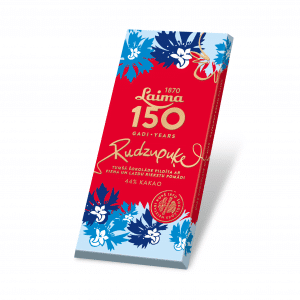 Laima150 Tumšā šokolāde Rudzupuķe, 107g