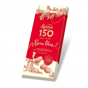 Laima150 Piena šokolāde Piena Lāse, 100g
