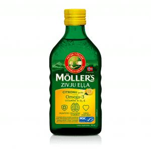 Möller's zivju eļļa ar citronu garšu, 250 ml